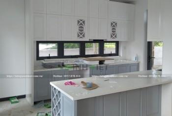 Tủ bếp đẹp MDF Tiền Giang CT057