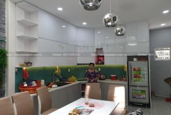 Tủ bếp HDF cánh Acrylic nhà anh Đức CT058