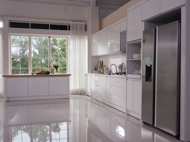 Tủ bếp đẹp màu trắng MS052