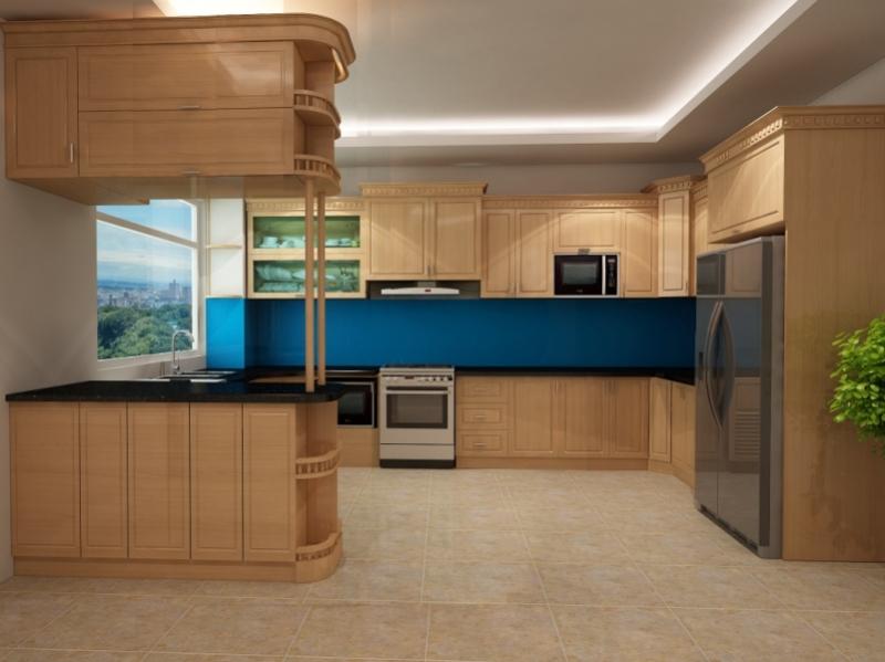 Tủ bếp gỗ chữ G G011