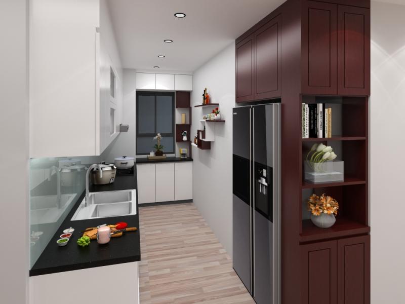 Tủ bếp đẹp MS049