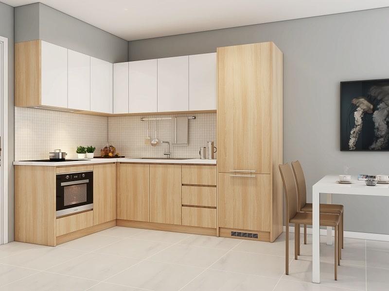 Tủ bếp đẹp chữ L MS033