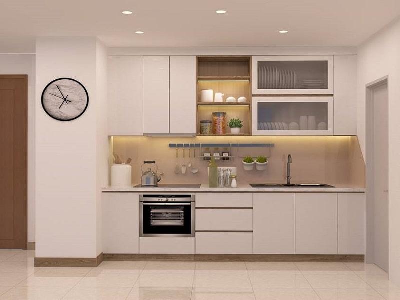 Tủ bếp đẹp chữ i MS040